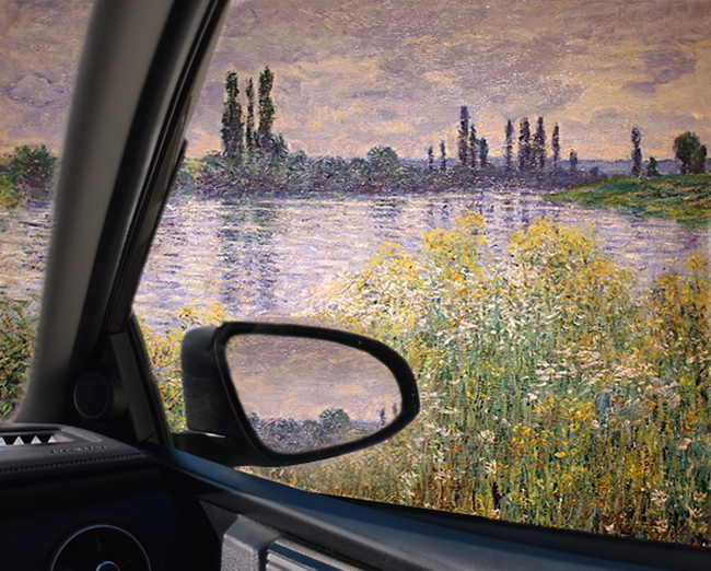 Driving through Monets Garden