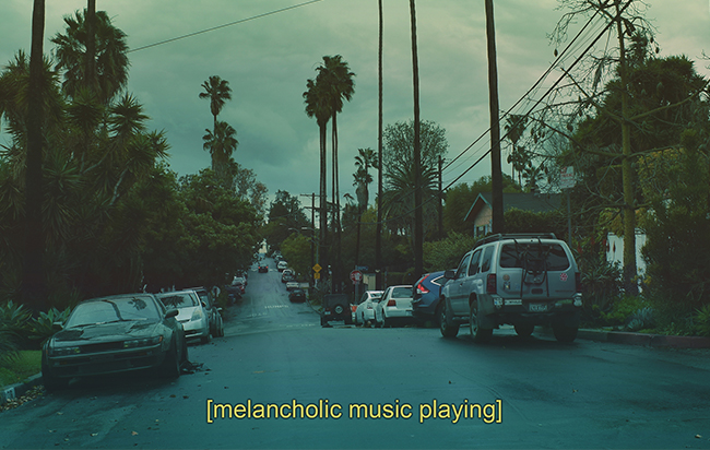 melancholic music playing